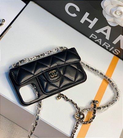 "Capa Para Celular Chanel ""Black"""