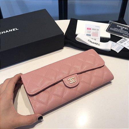 "Carteira Chanel ""Rose"""