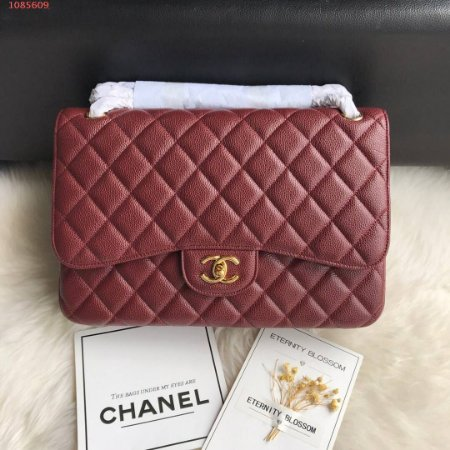 "Bolsa Chanel Duble Flap ""Wine"""