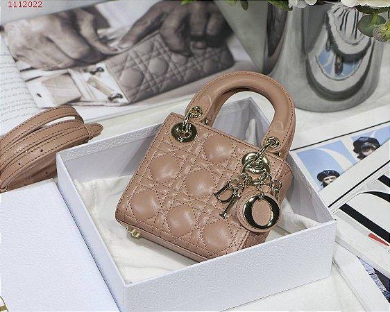 "Bolsa Lady Dior Micro ""Rose Des Vents"""