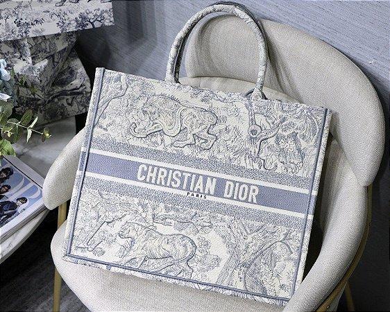 """Bolsa Tote Dior Book Toile de Jouy """"Blue"""""""