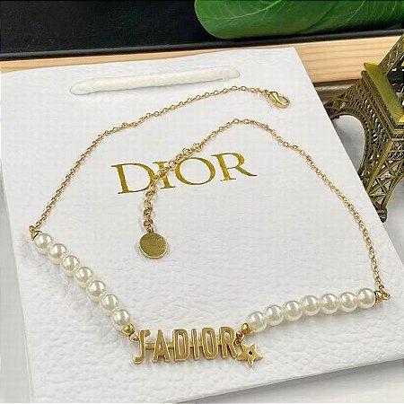 """Colar Dior """"Gold&Pearl"""""""