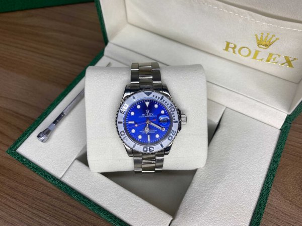 "Relógio Rolex Gmt Master 44mm ""Silver/Blue"" (PRONTA ENTREGA)"