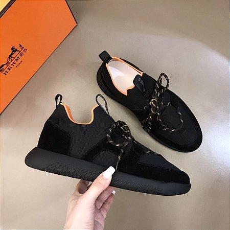 "Tênis Hermès ""Black&Orange"""