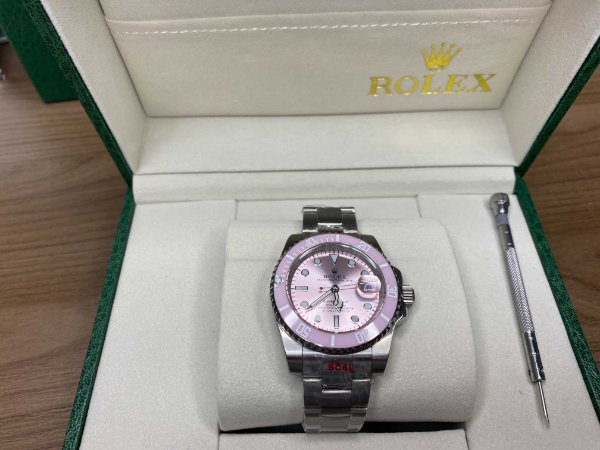 "Relógio Rolex Submariner Date 40 mm ""Pink Dial & Bezel"" (PRONTA ENTREGA)"