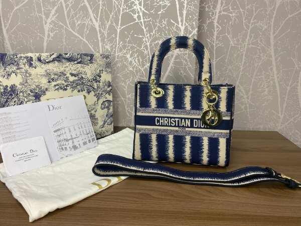 "Bolsa Dior Lady ""Dark Blue"" (PRONTA ENTREGA)"