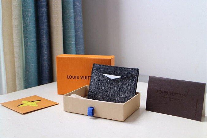 "Carteira Porta Cartões Louis Vuitton Monogram ""Black"""