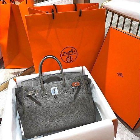 "Bolsa Hermès Birkin ""Gray&Silver"""