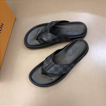 """Sandália Slip-On Louis Vuitton """"Black"""""""