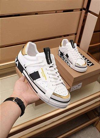 "Tênis Dolce & Gabbana ""Black&Gold"""