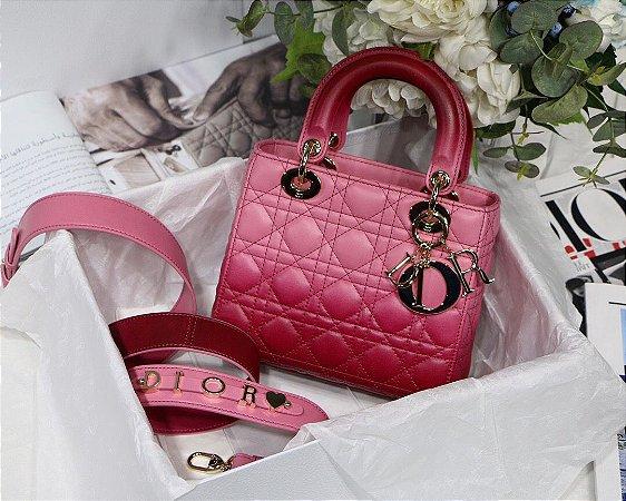 """Bolsa Dior Lady """"Magenta Gradient"""" (PRONTA ENTREGA)"""