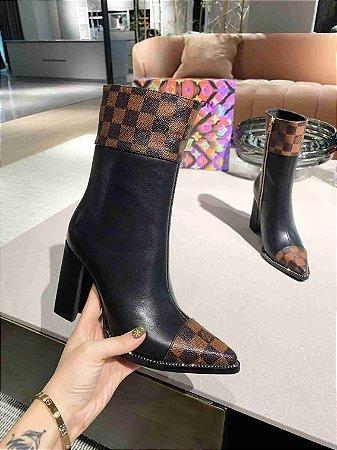 """Bota Louis Vuitton Silhouette """"Black/Brown"""" (PRONTA ENTREGA)"""
