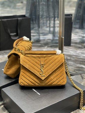 "Bolsa Saint Laurent Envelope ""Caramel&Gold"""