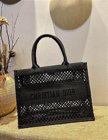 """Bolsa Tote Dior Book """"All Black"""""""