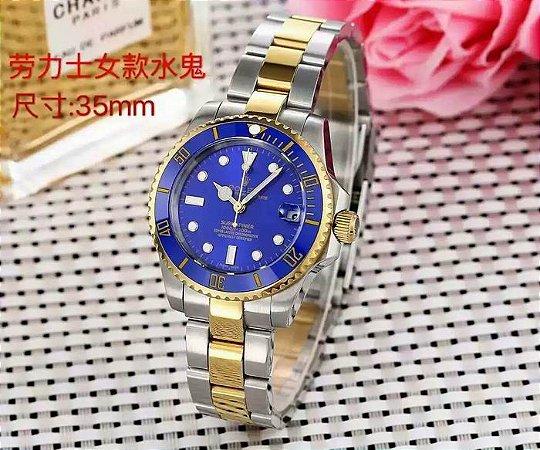 "Relógio Rolex Submariner ""Royal Blue"""