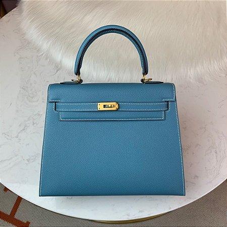 "Bolsa Hermès Kelly ""Blue&Gold"""