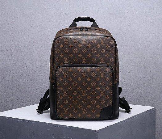 "Mochila Louis Vuitton Dean Monogram Macassar ""Black"" (PRONTA ENTREGA)"