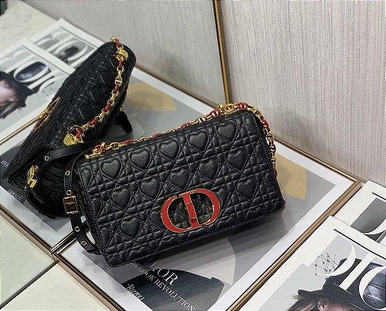 "Bolsa Dior Caro ""Black/Red"" (PRONTA ENTREGA)"