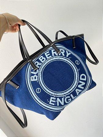 "Bolsa Burberry Beach Tote ""Blue"""