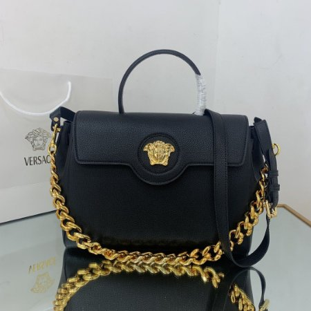 "Bolsa Versace La Medusa ""Black/Gold"" (PRONTA ENTREGA)"