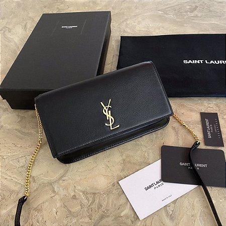 "Bolsa Saint Laurent Porta-celular ""Black&Gold"""