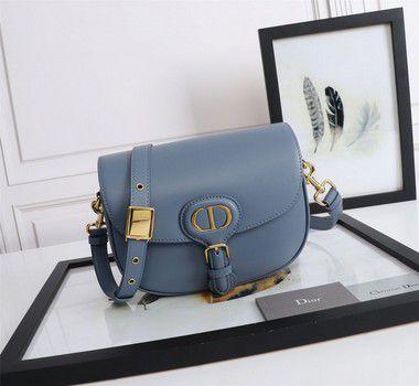 """Bolsa Bobby Dior Média """"Blue"""" (PRONTA ENTREGA)"""