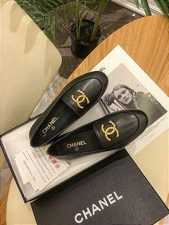 """Mocassim Chanel """"Black"""" (PRONTA ENTREGA)"""