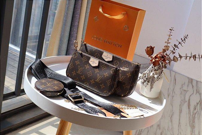 """Alça Multi Pochette Acessoires Louis Vuitton """"Black"""""""