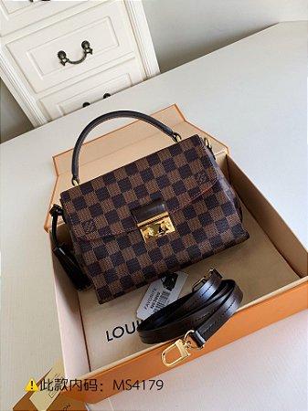 """Bolsa Louis Vuitton Croisette Damier Ébène """"Cherry"""" (PRONTA ENTREGA)"""