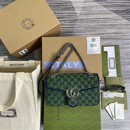 "Bolsa Gucci GG Marmont Multicolor ""Green"" (PRONTA ENTREGA)"