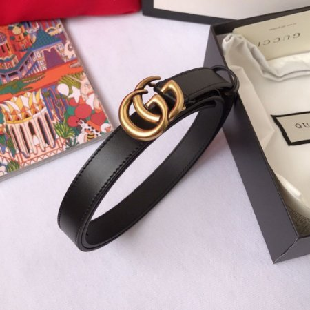"""Cinto Gucci com Fivela Double GG """"Black&Gold"""" (PRONTA ENTREGA)"""