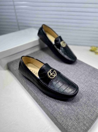 """Mocassim Gucci Cracked Double G """"Black&Silver"""""""