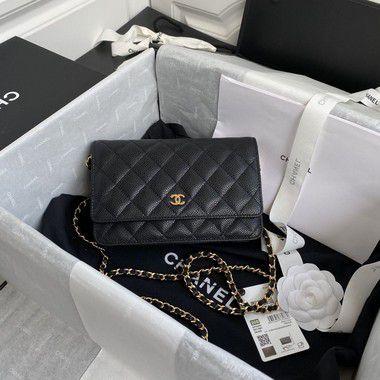 "Bolsa Chanel Woc Caviar ""Black"" (PRONTA ENTREGA)"