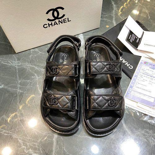 """Sandália Chanel Puffer """"Black"""""""