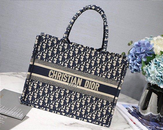 "Bolsa Tote Dior Book  ""Blue Oblique"" (PRONTA ENTREGA)"
