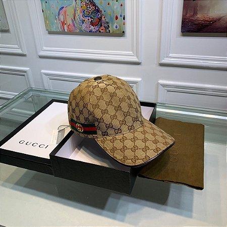 Boné Gucci GG com fita Web