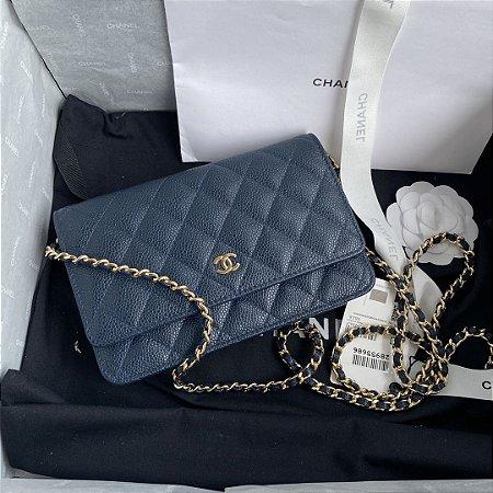 """Bolsa Chanel Woc Caviar """"Blue"""""""