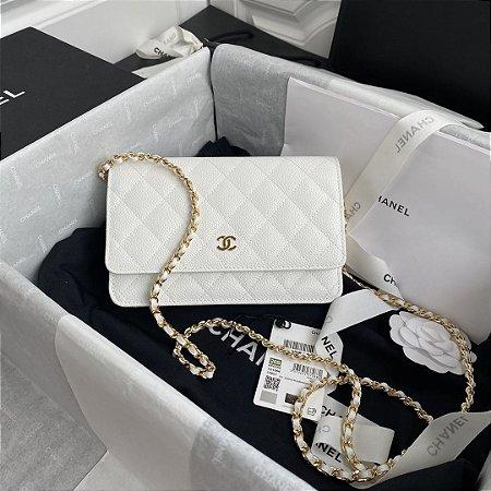 "Bolsa Chanel Woc Caviar ""White"""