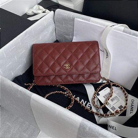 "Bolsa Chanel Woc Caviar ""Red"""