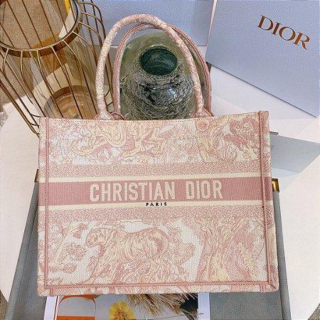 "Bolsa Tote Dior Book  Toile de Jouy ""Rose"""
