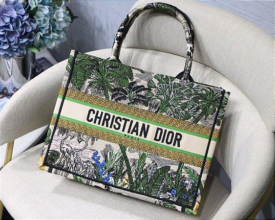 """Bolsa Tote Dior Book  Toile de Jouy """"Jungle"""""""