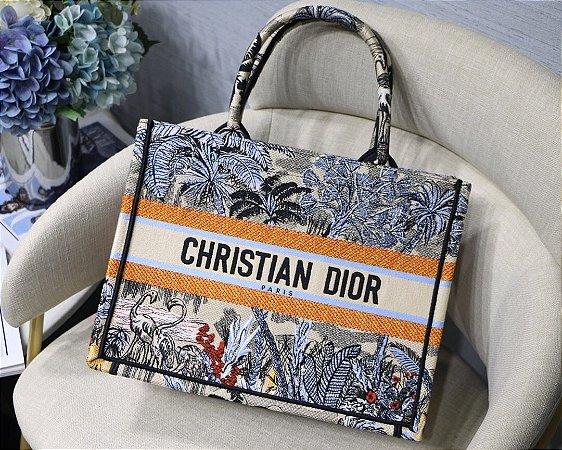 """Bolsa Tote Dior Book  Toile de Jouy """" Orange"""""""