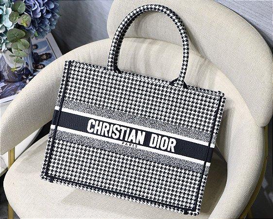 """Bolsa Tote Dior Book  Pied-De-Poule """"Black&White"""""""