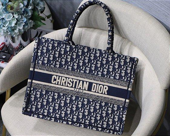 "Bolsa Tote Dior Book  Oblique ""Blue"""