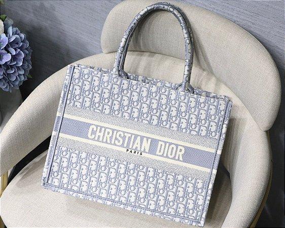 """Bolsa Tote Dior Book  Oblique """"Gray"""""""