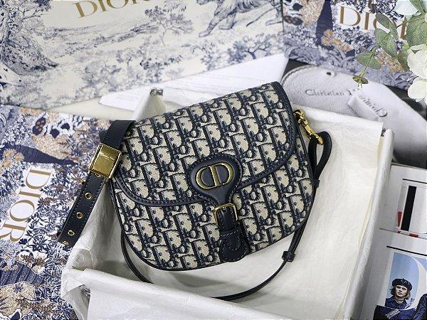 "Bolsa Bobby Dior Média Jacquard ""Black"""