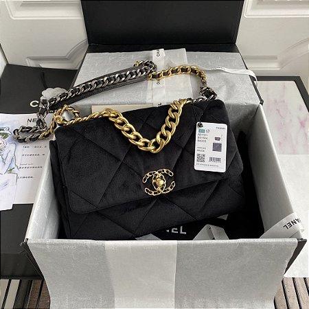 """Bolsa Chanel 19 Velvet """"Black"""""""
