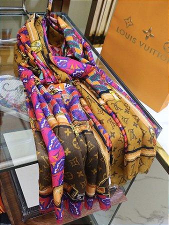 "Cachecol Louis Vuitton ""Multicolor Monogram"""