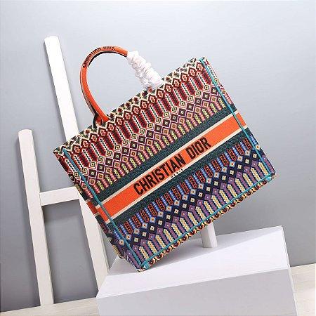 """Bolsa Tote Dior Book  """"Multicolor Orange """""""