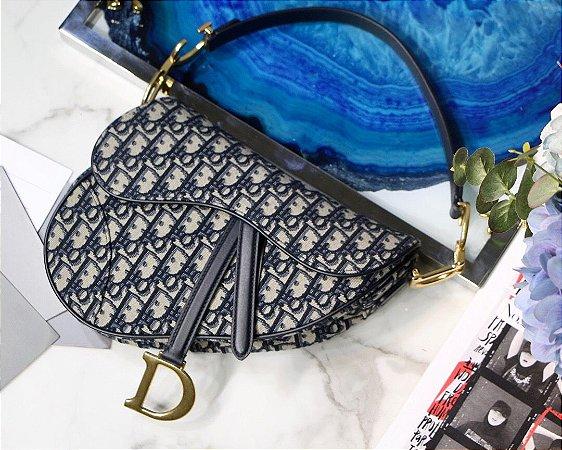 "Bolsa Dior Saddle Oblique Jacquard ""Black/White"""